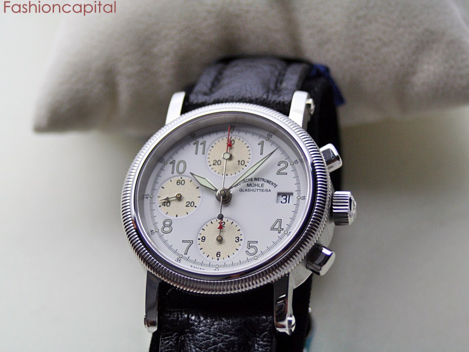 German mg m hle glash tte chronograph ii automatic steel men 39 s muhle glashutte no reserve auction for Muhle watches